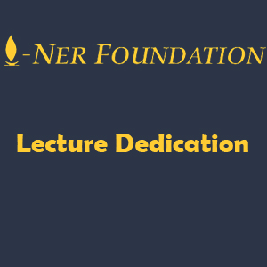 Lecture dedication
