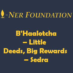 B'Haalotcha – Little Deeds, Big Rewards
