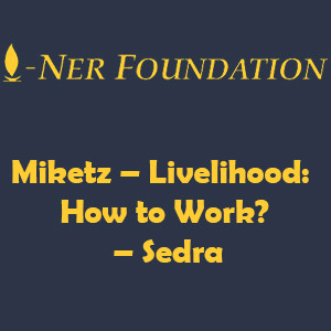 Miketz – Livelihood-  How to Work