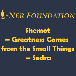 Shemot – Greatness Comes from the Small Things