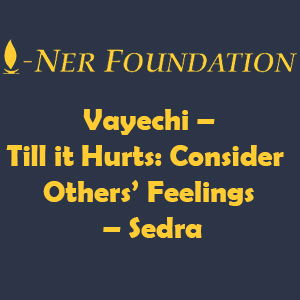 Vayechi Till it Hurts Consider Others' Feelings
