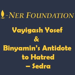 Vayigash Yosef & Binyamin's Antidote to Hatred