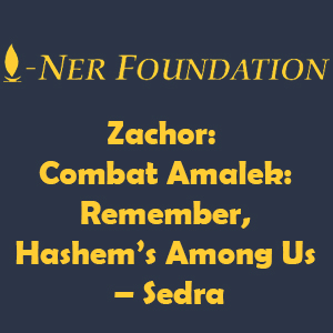 Zachor-  Combat Amalek-  Remember, Hashem's Among Us